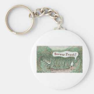 Road More Traveled By Keychain
