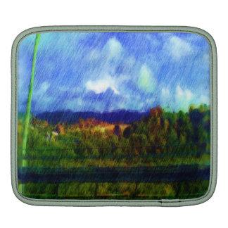 Road nature painting photo iPad sleeves