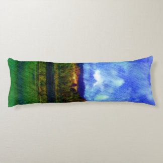 Road nature painting photo body pillow