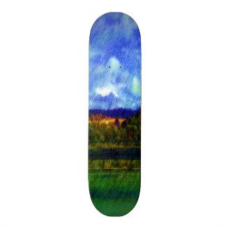 Road nature painting photo skateboard decks