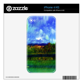 Road nature painting photo skins for the iPhone 4