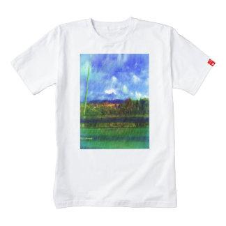 Road nature painting photo zazzle HEART T-Shirt