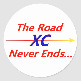 Road Never ends... Classic Round Sticker