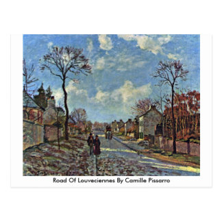 Road Of Louveciennes By Camille Pissarro Postcard