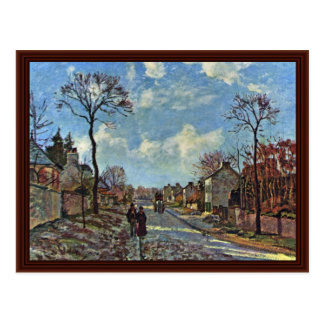 Road Of Louveciennes By Pissarro Camille Postcard