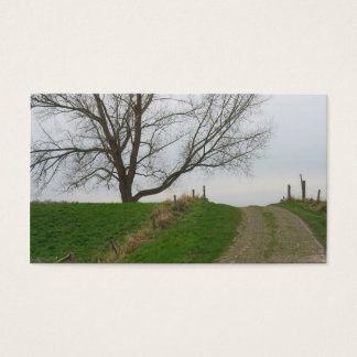 Road over the Hill and Tree Photo Card