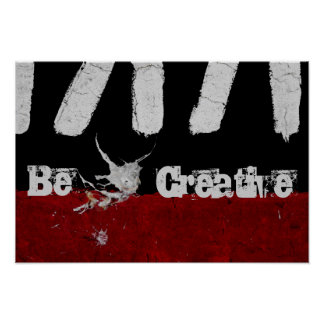 Road Paint Art - Be Creative - Cool - Fun Poster