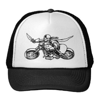 Road Pirate -bw Mesh Hats