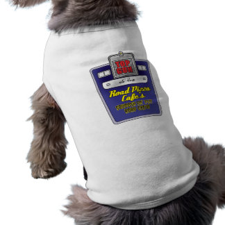 Road Pizza Cafe Doggie Ribbed Tank Top