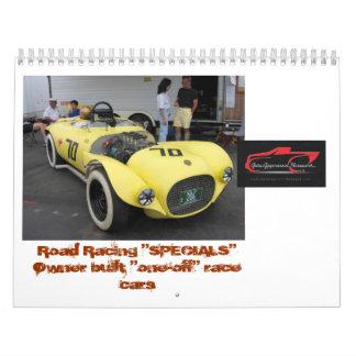 """Road Race """"SPECIALS"""" Calendar"""