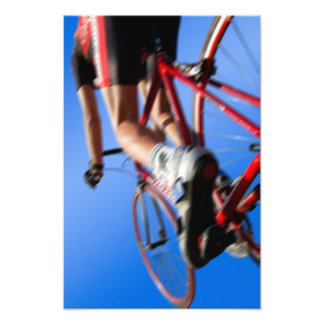 road racer on racing cycle, in dynamic fishes art photo