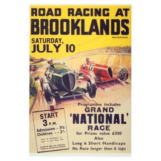 Road Racing at Brooklands Poster Metal Wall Art