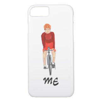 Road Racing Cyclist, man, add initials/name front iPhone 8/7 Case