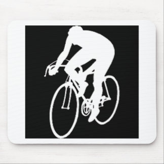 """""""Road racing cyclist"""" Mouse Pad"""