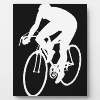 Road racing cyclist plaques