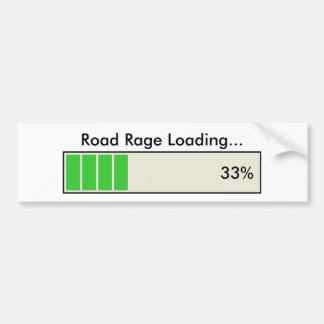 Road Rage Loading 33 percent Bumper Sticker