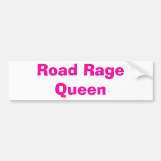 Road Rage Queen Car Bumper Sticker