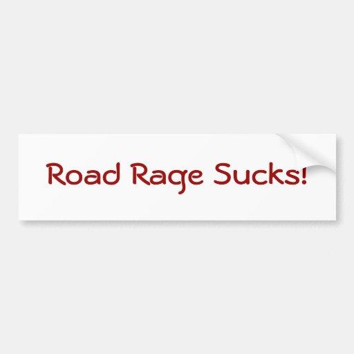 Road Rage Sucks! Bumper Sticker