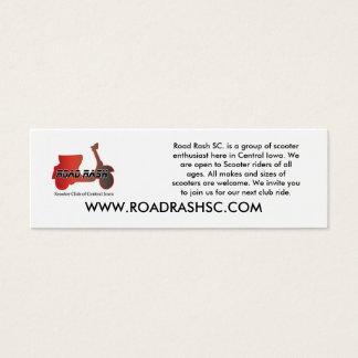 Road Rash SC Buisness Card