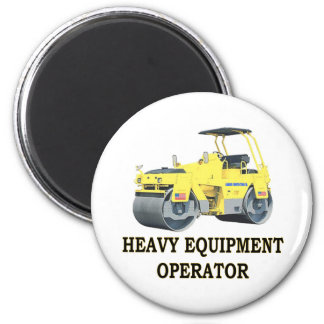 ROAD ROLLER 2 INCH ROUND MAGNET