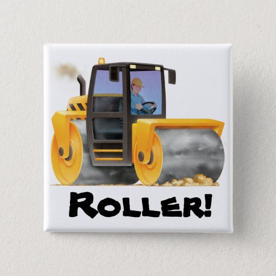 Road Roller Button Badge