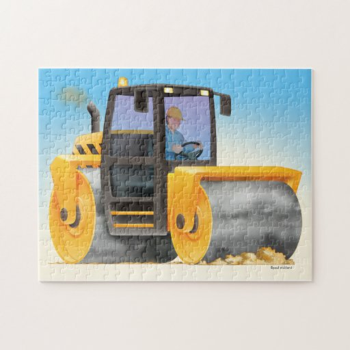 Road Roller Jigsaw Photo Puzzles