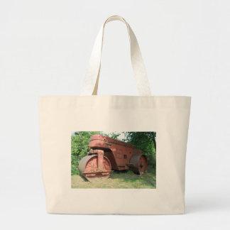 Road roller large tote bag