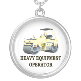ROAD ROLLER SILVER PLATED NECKLACE