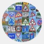 road round sticker