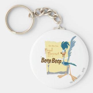 ROAD RUNNER™ Beep, Beep Basic Round Button Keychain