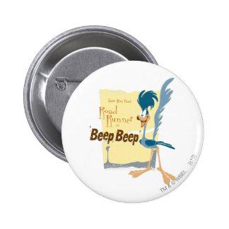 ROAD RUNNER™ Beep, Beep Pinback Button