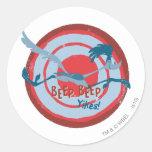 ROAD RUNNER™ Beep Beep Yikes! Classic Round Sticker