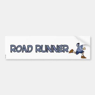 road runner car bumper sticker