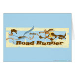 Road Runner Chased By Wile E. Coyote Greeting Card