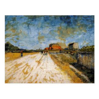 Road Running Beside the Paris Rampart by van Gogh Postcard