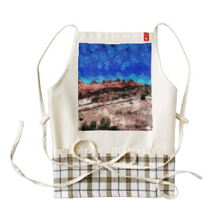 Road running next to a hill zazzle HEART apron