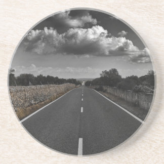 Road scenery drink coaster