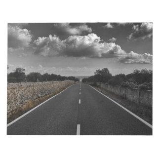 Road scenery notepad