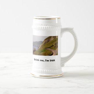 Road Shamrocker Big, Drink me, I'm Irish Beer Stein