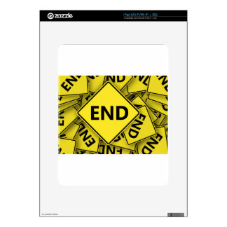 road-sign-1-end-nd skin for iPad
