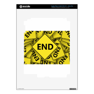 road-sign-1-end-nd skin for iPad 3