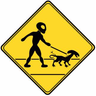 Road Sign- Alien Crossing Cutout
