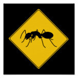 Road Sign- Ant Poster
