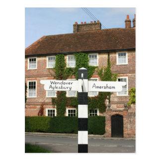 Road sign at Little Missenden, Buckinghamshire, UK Postcard