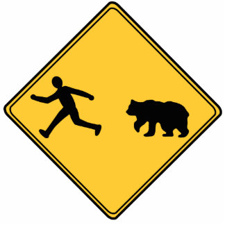 Road Sign- Bear Cut Out Sculpture