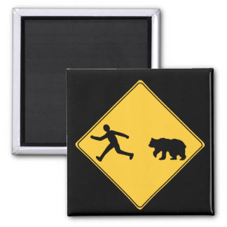 Road Sign- Bear Magnet
