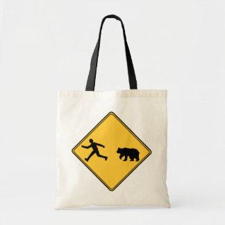 Road Sign- Bear Tote Bag