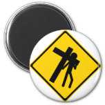 Road Sign Carrying Cross Magnets