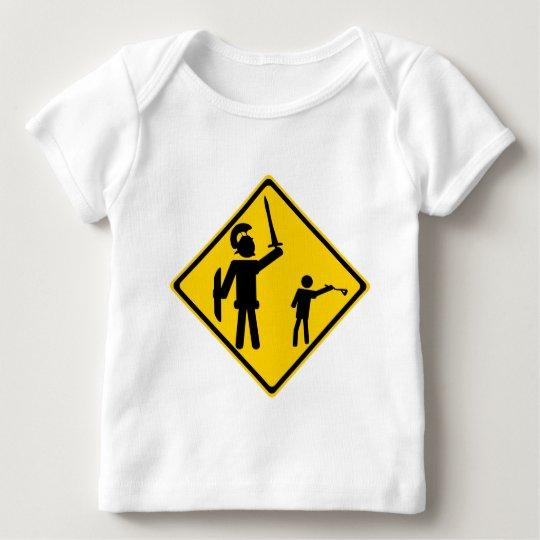 Road Sign David and Goliath Baby T-Shirt
