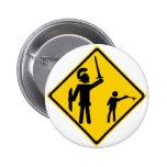 Road Sign David and Goliath Pins